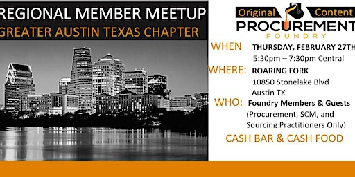 Greater Austin Texas Chapter  Member Meetup February 27, 2020