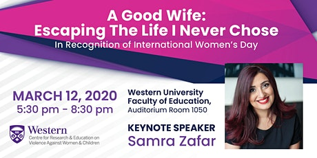 An Evening with Samra Zafar in Celebration of International Women's Day tickets