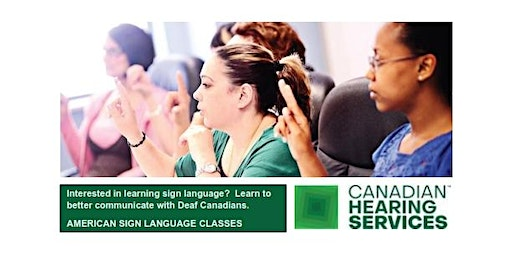 ASL 103 - CHS Belleville, Thursdays, April 16 - June 18, 2020, 6 PM - 9 PM
