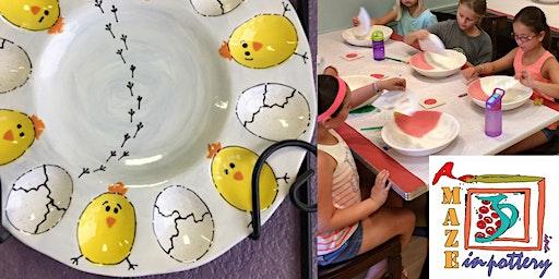Chick Egg Tray Class (6yo & up)POTTERY PAINTING