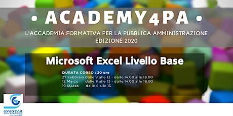 Microsoft Excel Livello Base biglietti