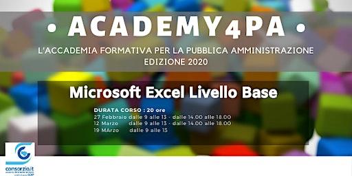 Microsoft Excel Livello Base