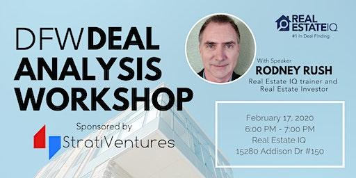 DFW - Deal Analysis Workshop