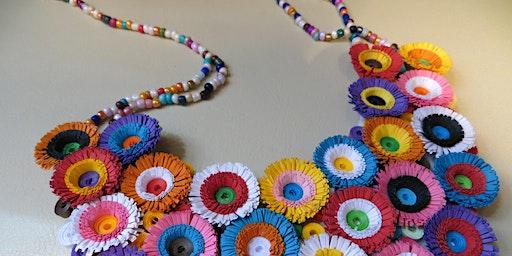 Paper Jewellery Workshop with Roberta