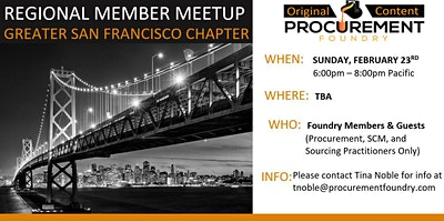 San Francisco  Member Meetup February 23, 2020