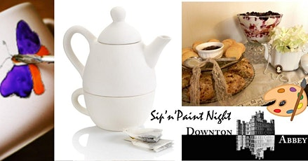 Sip'n'Paint Downton Abbey Tea Time (BYOB) POTTERY PAINTING NIGHT tickets