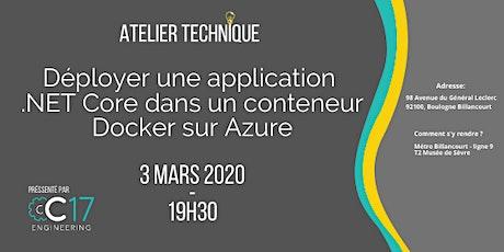 Déployer une application .NET Core dans un conteneur Docker sur Azure tickets