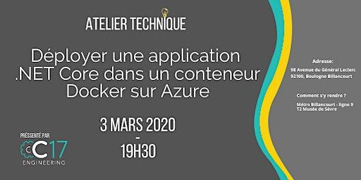 Déployer une application .NET Core dans un conteneur Docker sur Azure