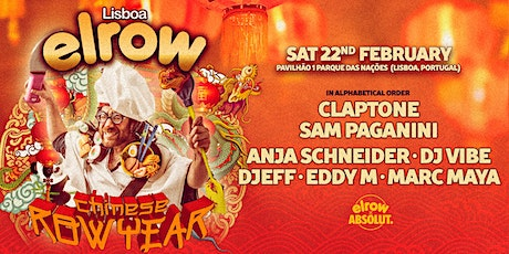 elrow Lisboa - Chinese Row Year bilhetes