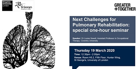 Next challenges for pulmonary rehabilitation: special one-hour seminar tickets