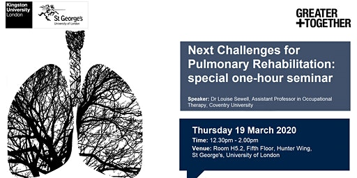 Next challenges for pulmonary rehabilitation: special one-hour seminar