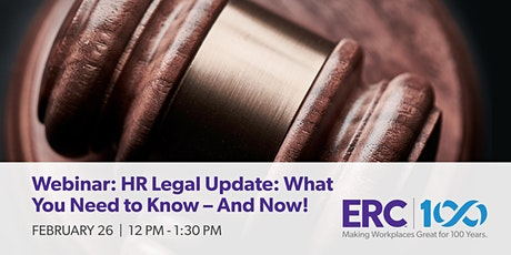 Webinar: HR Legal Update: What You Need to Know - And Now! tickets