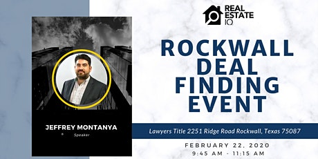 DFW - Rockwall Deal Finding Event tickets