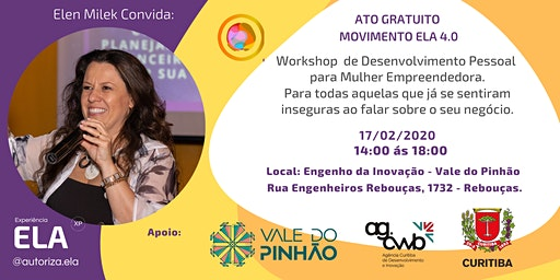 WORKSHOP ELA - EMPREENDEDORISMO - LIDERANÇA - AUTONOMIA FEMININA