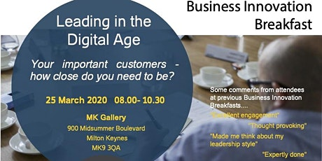 Business Innovation Breakfast - Leading in the Digital Age tickets