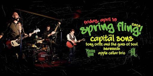Capital Sons, Tony Ortiz And The Guns Of Soul, Seaweeds,  Apple Cellar Trio