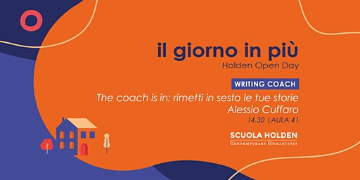 [Rinviato] Holden Open Day | The Coach is in | Slot C1