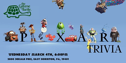 Disney Pixar Trivia at The Greene Turtle East Norriton