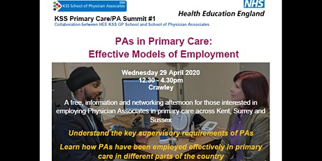 PAs in Primary Care : Effective Models of Employment (KSSPAS) tickets