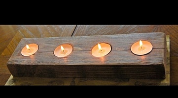 Easy Peasy Natural Candle Holder - Beginners Woodworking Workshop - Materials Included