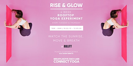 Rise and Glow- 4 week rooftop yoga experiment tickets