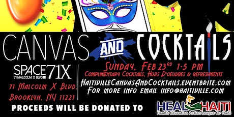 "Haitiville presents ""Canvas & Cocktails""  Paint for a Purpose tickets"