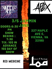 Laws of Average + Red Medicine + Apex + Graffitti Soundstage tickets