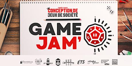 Game Jam' 3ième édition billets