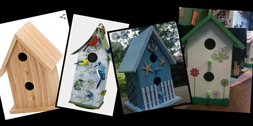 Paint a Birdhouse and Add Fun Spring  Embellishments