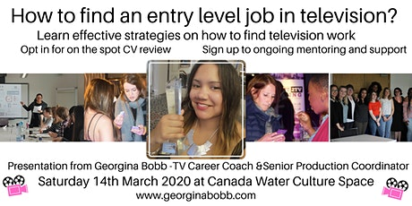 How to find an entry level job in television - Presentation and Networking tickets