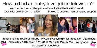How to find an entry level job in television - Presentation and Networking
