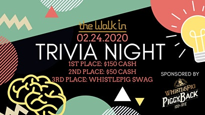 The Walk In Trivia Night tickets