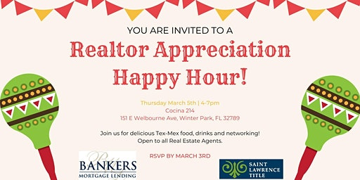 Realtor Appreciation Happy Hour!