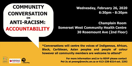 Community Conversation on Anti-Racism: Accountability tickets