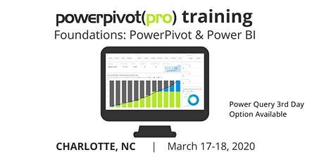Foundations: Power Pivot and Power BI - Charlotte 2020 tickets