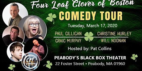 Four Leaf Clover Of Boston Comedy Tour at Peabody Black Box Tues 3/17 tickets