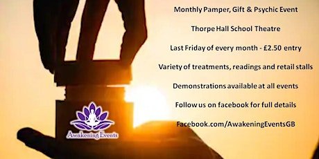 Psychic, Gift & Pamper Evening - pay on door tickets