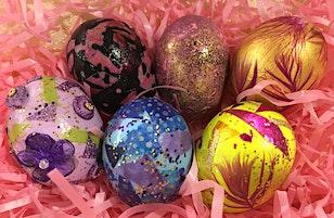 """Make your Easter holiday """"Egg-Stra Fancy""""! Decorating Egg Workshop"""