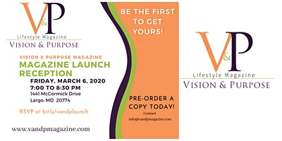 Vision & Purpose LifeStyle Magazine Launch Reception