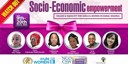 CSW64 Socioeconomic Empowerment/Equality for Girls and Women