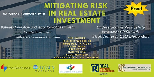 MITIGATING RISK IN REAL ESTATE INVESTING! YOU CAN'T MISS THIS FREE EVENT!