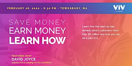 Tewksbury, MA - Save Money, Earn Money, LEARN HOW! tickets