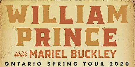 POSTPONED: William Prince + Mariel Buckley tickets