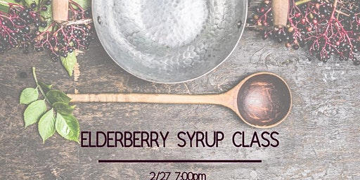 Make Your Own Elderberry Syrup Class February