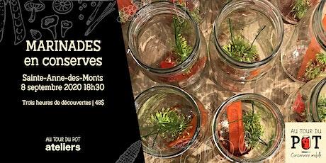 Marinades en conserves   Sainte-Anne-des-Monts billets