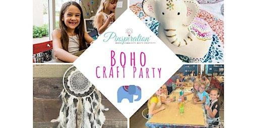 Boho Craft Party  (03-05-2020 starts at 6:00 PM)