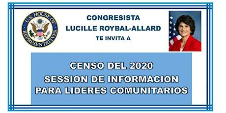 Censo 2020,  Sesión de Información para Lideres Comunitarios tickets