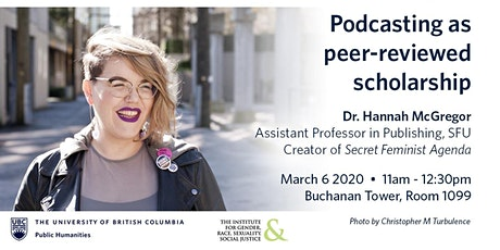 UBC Public Humanities Hub Media Workshop Series: Podcasting tickets