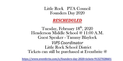 RESCHEDULED  FOUNDERS DAY 2020 FEBRUARY 18 2020