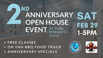 2nd Anniversary Open House at Tidal Strength + Cycle